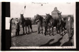 Olaf Pierson's first Percheron horses, York, N.D.