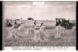 Harvesting J.A. Englund's 400 acre field of winter rye, Kenmare, N.D.