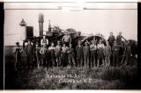 Selmer and Joe Salverson's threshing rig, Columbus, N.D.