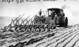 J.F. Clemans steam tractor breaking ground, Adrian, N.D.