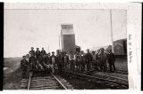 Workers replacing rails, Barnes County, N.D.