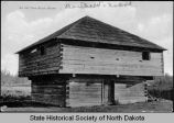 An old time block house, Fort Berthold, N.D.