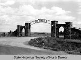 Fort Lincoln entrance gates, Bismarck, N.D.