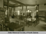 Interior of public library, Grand Forks, N.D.