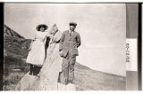 Floyd Henderson and Mayme Nelson near butte east of Regent, N.D.