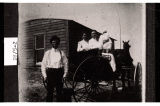 Edward and Minnie Krecklau with Bertha and John Krecklau, Blooming Valley Township, Divide County,...