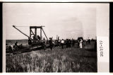 Rail laying machine 3 miles east of Halliday, N.D.