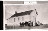 Esther Vaagen's school, Ridgeway No. 2, Dunn County, N.D.