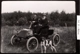 Ole, Clarence and Torkl Fosholdt in Ole's first car, Griggs County, N.D.