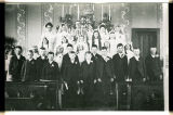 First stationary priest with confirmation class, Larimore, N.D.