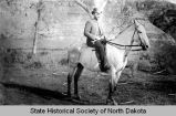William F. Van Driesche on horseback, Medora, N.D.