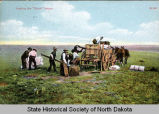Loading the chuck wagon