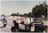 Julie Hill campaigning in parade, Minot, N.D.