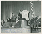 Dorothy Stickney receiving Rough Rider Award, Bismarck, N.D.