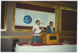 Kent Conrad and George Gaukler at Majority 94 event, Bismarck, N.D.