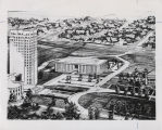 Architectural drawing of proposed Highway Department, Bismarck, N.D.