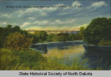 Northern Pacific highline across Sheyenne Valley at Valley City, N.D.