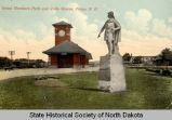 Great Northern Park and Rollo statue, Fargo, N.D.