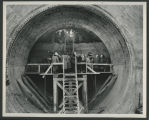 Breakthrough at tunnel 3, Garrison Dam site