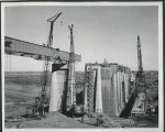 Intake structure service bridge construction, Garrison Dam
