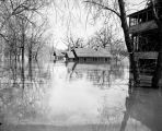 Residential area flooded to middle of 1st floor, Fargo, N.D.
