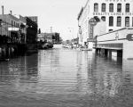Flooded businesses on Broadway, Fargo, N.D.