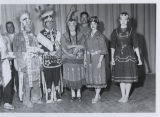 Jenny and Jan Burdick in Native American attire, Fargo, N.D.
