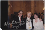 Norm Coleman and Amy Klobuchar with Myron H. Bright