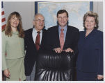 Patricia Shaughnessy, Myron H. Bright, Kent Conrad and Conrad aide, Washington, D.C.