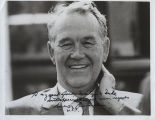Quentin Burdick portrait with autograph