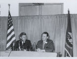 John F. Kennedy and Quentin Burdick at Fargo City Auditorium, Fargo, N.D.