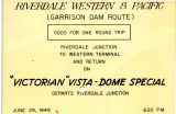 Riverdale Western & Pacific ticket