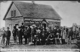 First Customs Office in Northwest, with old time residents near Emerson, Man.