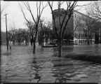 St. John's Hospital during spring flood of 1943, Fargo, N.D.
