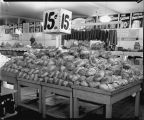Rack of hams, Red Owl Supermarket, Fargo, N.D.