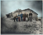 Log-sod house, Herman Lien, Adams, North Dakota, 1890