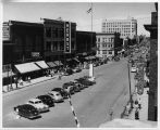 Broadway, looking north from Northern Pacific Railroad tracks, Fargo, N.D.