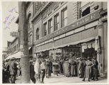 Crowd outside Herbst Department Store, Fargo, N.D.