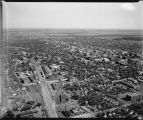 Aerial looking southeast over downtown Fargo, N.D.