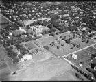 Aerial over Concordia College and Prairie Home Cemetery, Moorhead, Minn.