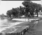 Swimming at south dam, Red River of the North, Moorhead, Minn.