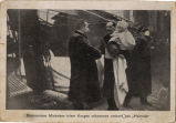 King Haakon VII and Crown Prince Olav meet Christian Michelsen.