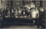Gov. Frazier signing woman suffrage bill
