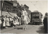 Joan of Arc portrayal in parade celebrating return of troops to Fargo, N.D. after World War I