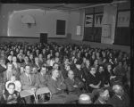 Crowd at victory celebration for Governor Fred Aandahl in the school gymnasium, Litchville, N.D.