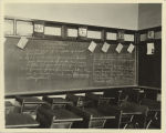 Arithmetic lesson plan on blackboard, St. Mary's School, Fargo, N.D.