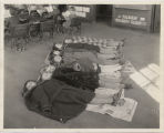 5th graders resting after milk at Washington School, Fargo, N.D.