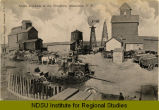 Grain blockade at the elevators, Anamoose, N.D.