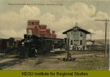 Grain elevators and R.R. station, Bowman, N.Dak.