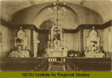 Interior view, Catholic church, Grafton, N.Dak.